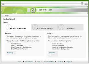 a2 hosting backup